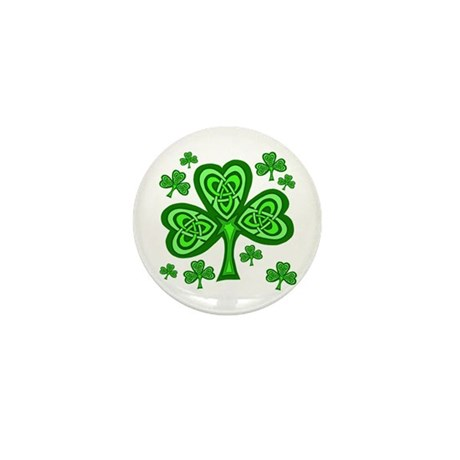 Celtic Shamrocks Mini Button (10 pack)