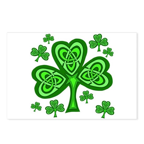 Celtic Shamrocks Postcards (Package of 8)