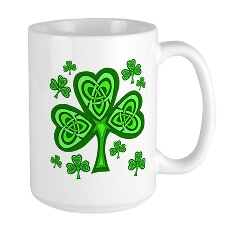 Celtic Shamrocks Large Mug