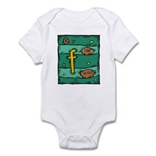 F is for Football Infant Bodysuit