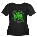Irish Luck Shamrocks Women's Plus Size Scoop Neck
