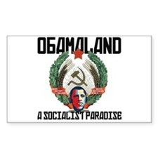 Obamaland Rectangle Decal
