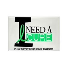 I Need A Cure CELIAC DISEASE Rectangle Magnet (100