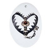 Bear Trap Heart Oval Ornament
