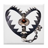 Bear Trap Heart Tile Coaster