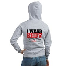I Wear Red Mom Zip Hoodie
