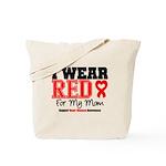 I Wear Red Mom Tote Bag