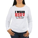 I Wear Red Mom Women's Long Sleeve T-Shirt