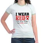I Wear Red Mom Jr. Ringer T-Shirt