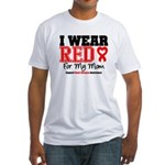 I Wear Red Mom Fitted T-Shirt