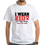 I Wear Red Mom White T-Shirt