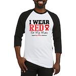 I Wear Red Mom Baseball Jersey