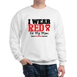 I Wear Red Mom Sweatshirt