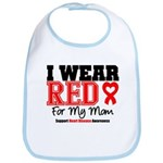 I Wear Red Mom Bib