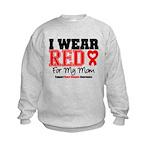 I Wear Red Mom Kids Sweatshirt