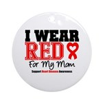 I Wear Red Mom Ornament (Round)
