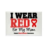 I Wear Red Mom Rectangle Magnet (100 pack)