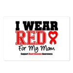 I Wear Red Mom Postcards (Package of 8)