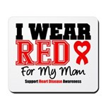 I Wear Red Mom Mousepad