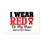 I Wear Red Mom Mini Poster Print