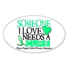 Needs A Cure CELIAC DISEASE Oval Sticker (10 pk)