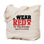 I Wear Red Grandpa Tote Bag