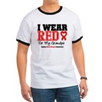 I Wear Red Grandpa Ringer T