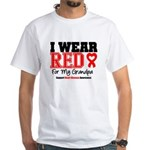I Wear Red Grandpa White T-Shirt