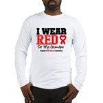 I Wear Red Grandpa Long Sleeve T-Shirt