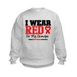 I Wear Red Grandpa Kids Sweatshirt