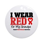 I Wear Red Grandpa Ornament (Round)