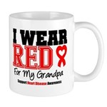 I Wear Red Grandpa Mug