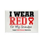 I Wear Red Grandpa Rectangle Magnet (10 pack)