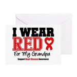 I Wear Red Grandpa Greeting Card