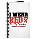 I Wear Red Grandpa Journal