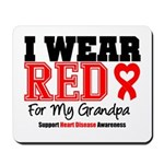 I Wear Red Grandpa Mousepad