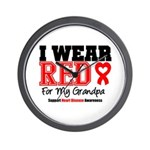 I Wear Red Grandpa Wall Clock