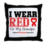 I Wear Red Grandpa Throw Pillow
