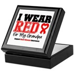 I Wear Red Grandpa Keepsake Box