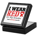 I Wear Red Grandpa Keepsake Box