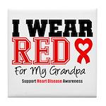 I Wear Red Grandpa Tile Coaster
