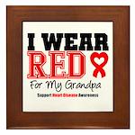 I Wear Red Grandpa Framed Tile
