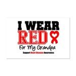 I Wear Red Grandpa Mini Poster Print
