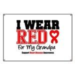 I Wear Red Grandpa Banner