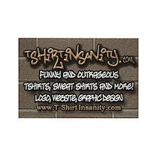 T-ShirtInsanity.com Rectangle Magnet (100 pack)