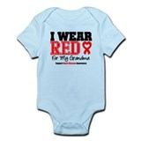 I Wear Red Grandma Infant Bodysuit