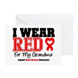 I Wear Red Grandma Greeting Card