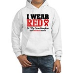 I Wear Red Granddaughter Hooded Sweatshirt