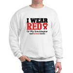 I Wear Red Granddaughter Sweatshirt