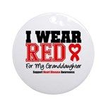 I Wear Red Granddaughter Ornament (Round)